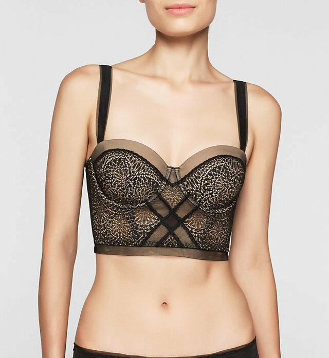 Podprsenka korzetová QF1876E Black Endless - Calvin Klein - 75D - černá