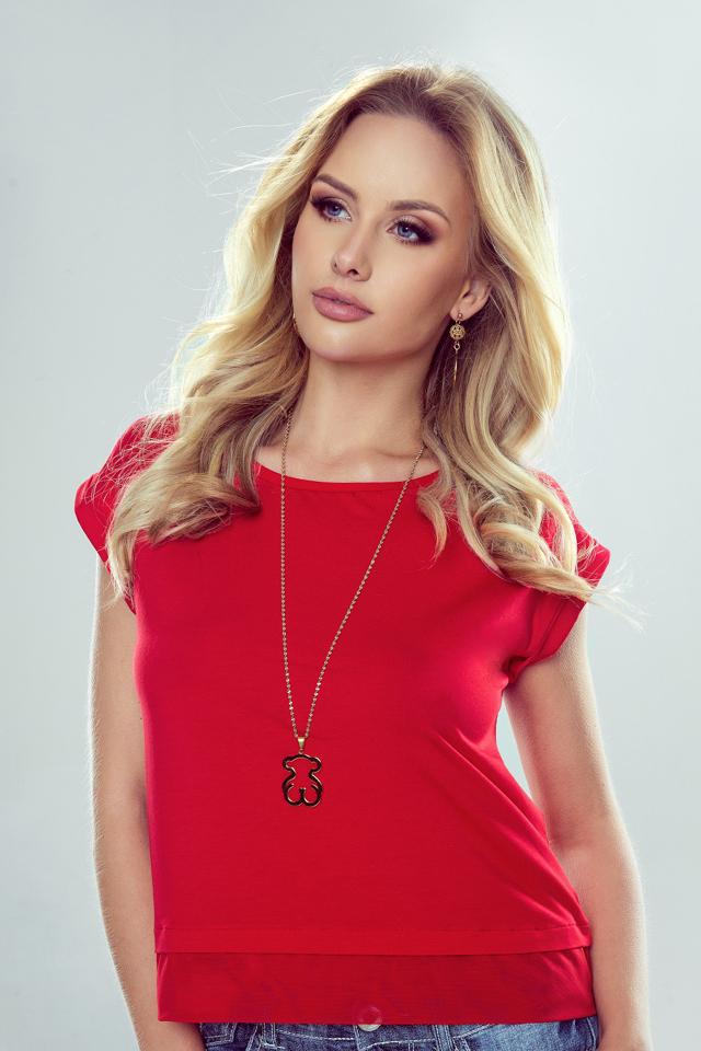 Dámská blůzka Natalia - Eldar - XL - červená