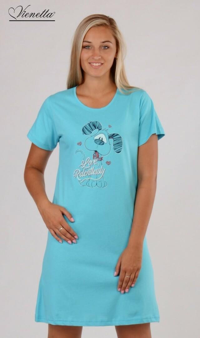 Dámská noční košile s krátkým rukávem Pes Love