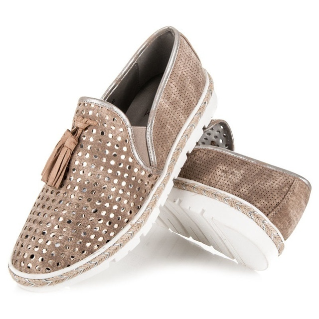 Dámské boty K1715006BE - Kylie - 38 - béžovo/hnědá
