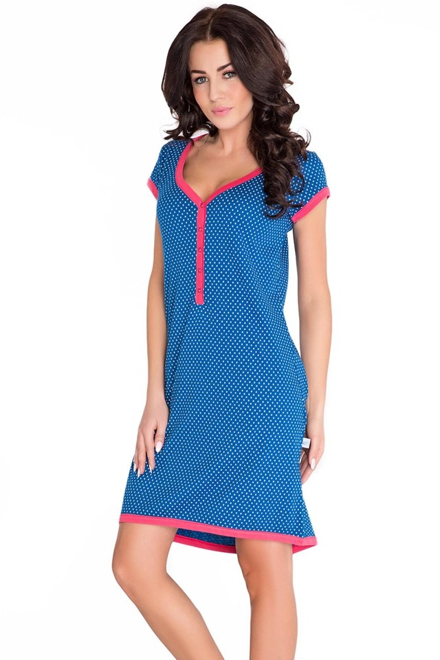 Těhotenská/kojící noční košile Dobranocka TM.5038 - L - rose