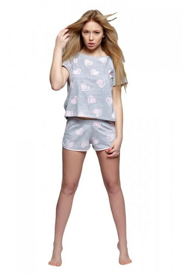 Dámské pyžamo Ida - Sensis - XL - šedo-růžová