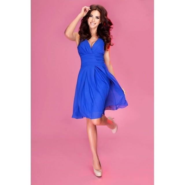 Dámské šaty 35-1 Numoco - L - královská modř
