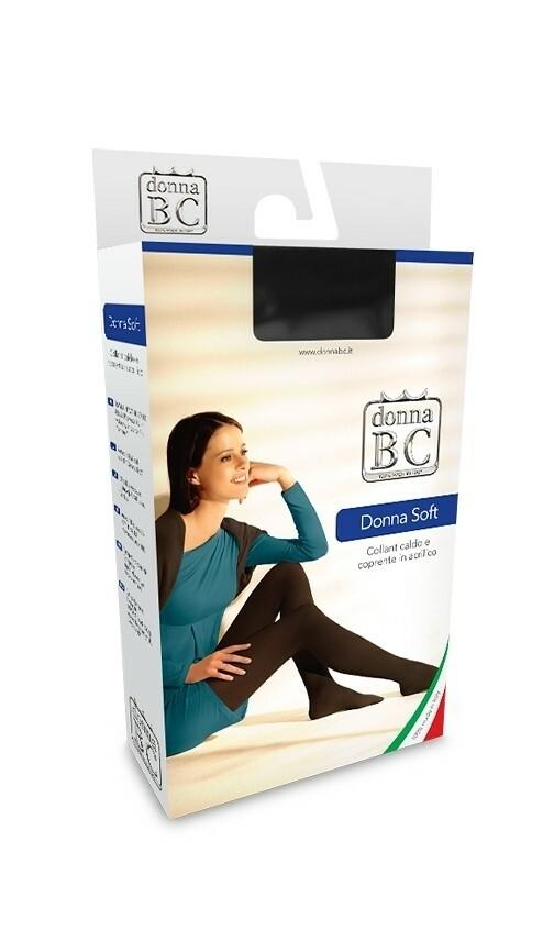 Punčochové kalhoty Donna B.C Soft Akryl S-XL - 3-L - fumo/odstín šedé