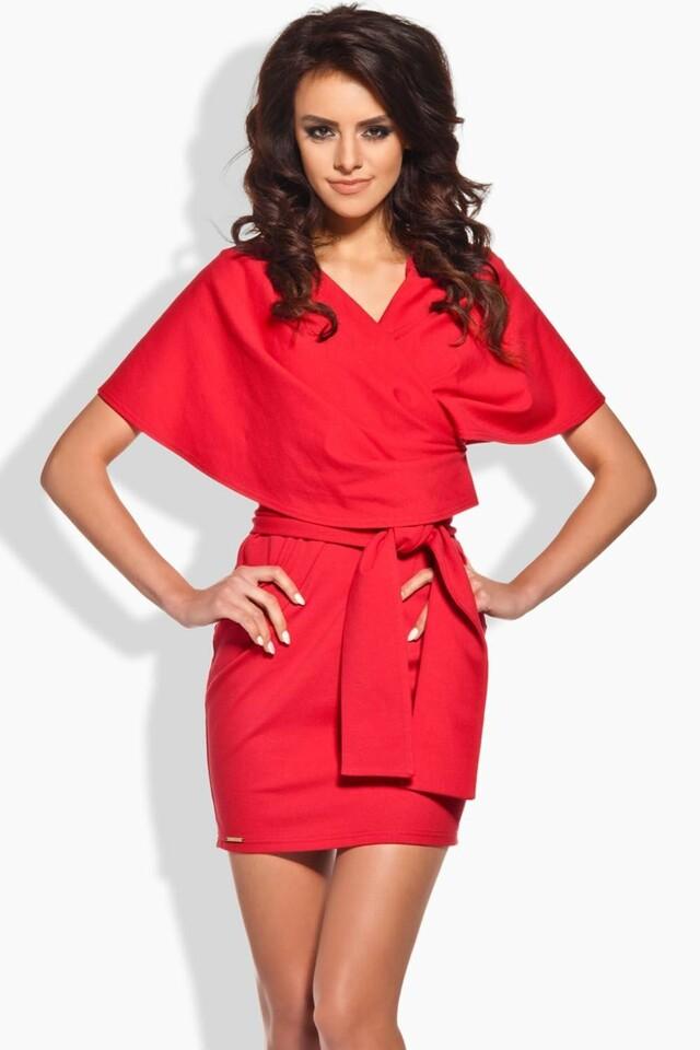 Dámské šaty L138 - Lemoniade - M - červená