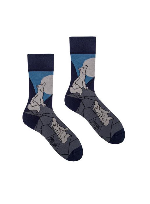 Ponožky Spox Sox - Vlčí vytí - 36-39 - multikolor