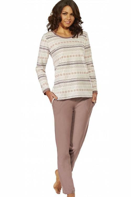 Dámské pyžamo Luna 526-1 - XL - béžová