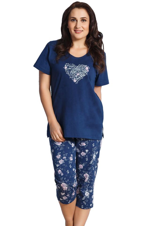 Dámské pyžamo pro plnoštíhlé Milly srdce - XXL