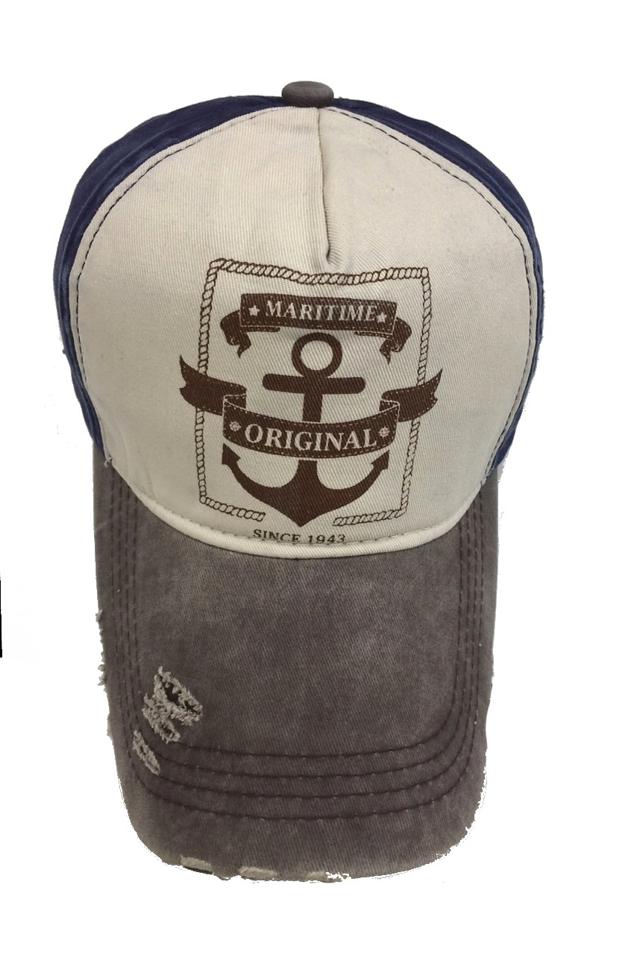 Čepice s kšiltem Bruno Rossi CZ-7 - univerzální - šedá