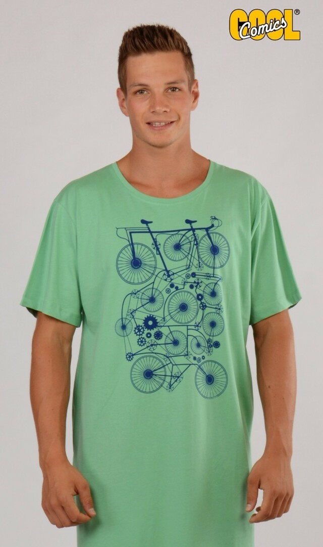 Pánská noční košile s krátkým rukávem Kolo 4610 - Cool comics - M - modrá