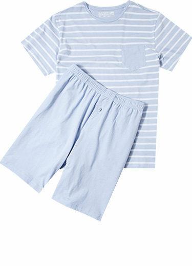 Pánské pyžamo 500007 -Jockey - XL - tm.modrá s proužky