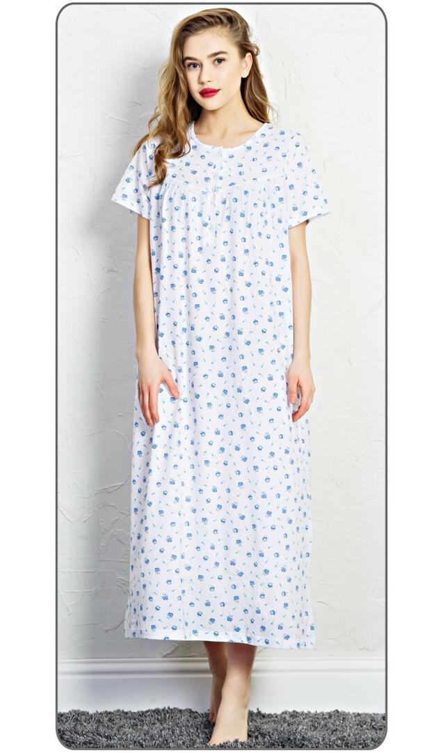 Dámská noční košile s krátkým rukávem Markéta - bílá/lososová M