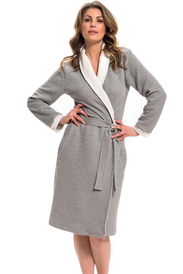 Dámský župan Dn-nightwear SWP.9276 - 2XL - dark grey