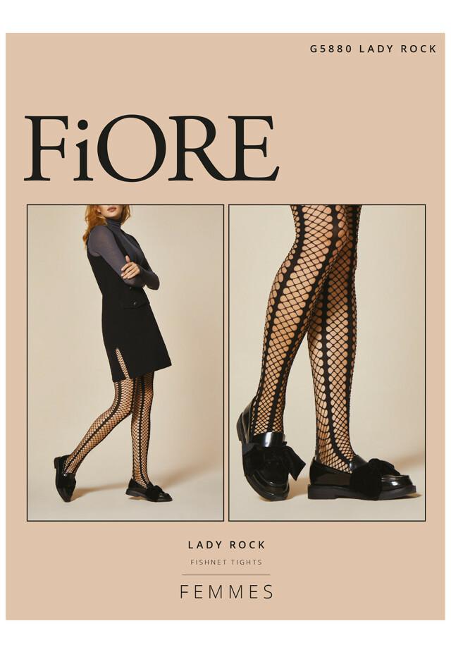 Punčochové kalhoty Fiore Lady Rock G 5880 - 4-L - černá