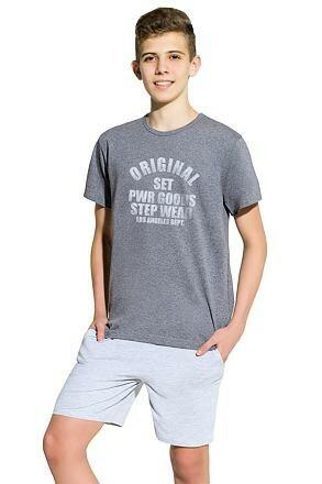 Chlapecké pyžamo Karel tmavě šedé
