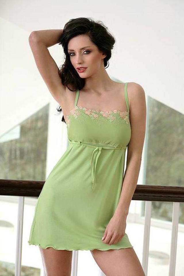 Dámská košilka Soraya green - M - zelená