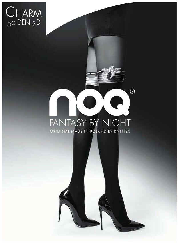 Punčochové kalhoty Knittex Noa Charm 3D 50 den - 4-L - černá