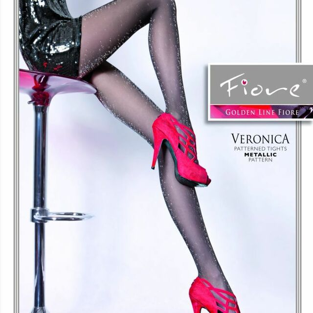 Dámské punčochové kalhoty Veronica 20 den - Fiore - 2 - černá