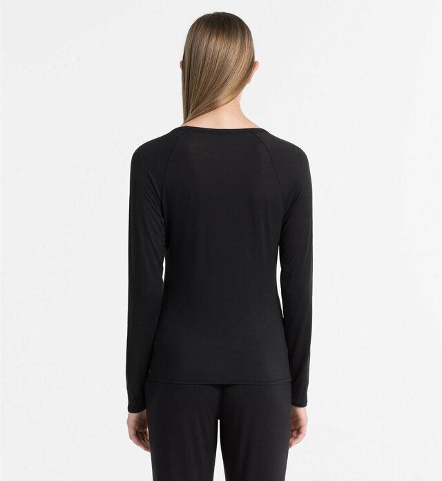 Dámské tričko QS5493E černá - Calvin Klein