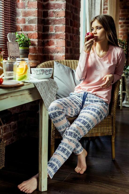 Dámské pyžamo LNS 987 B7 - Key - M - lososová