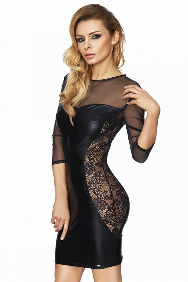Erotické šaty Arica - L - černá