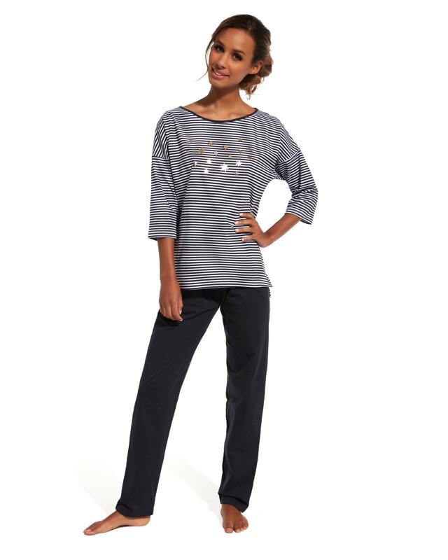 Pyžamo Cornette 144/135 Night Sky 3/4 N - S - tmavě šedá