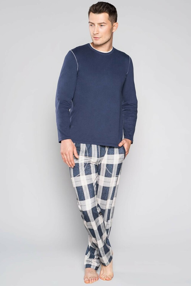 Pánské pyžamo Italian Fashion Forest dl.r. - L - tmavomodrá