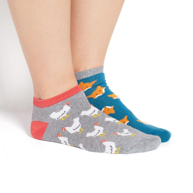 Nepárové ponožky SOXO GOOD STUFF - Lišky a slepice - 40-45