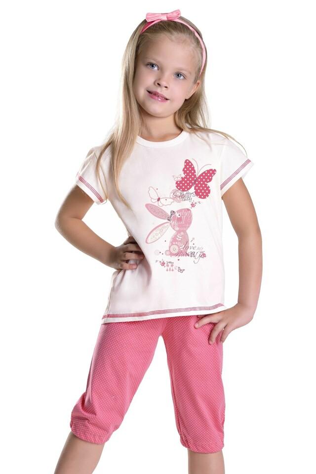 Dívčí pyžamo Králíček s motýlkem - 104