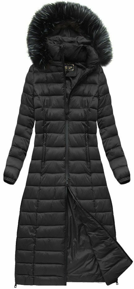 Černý dámský prošívaný kabát (7758) - XL (42) - černá 5a017c0daaa