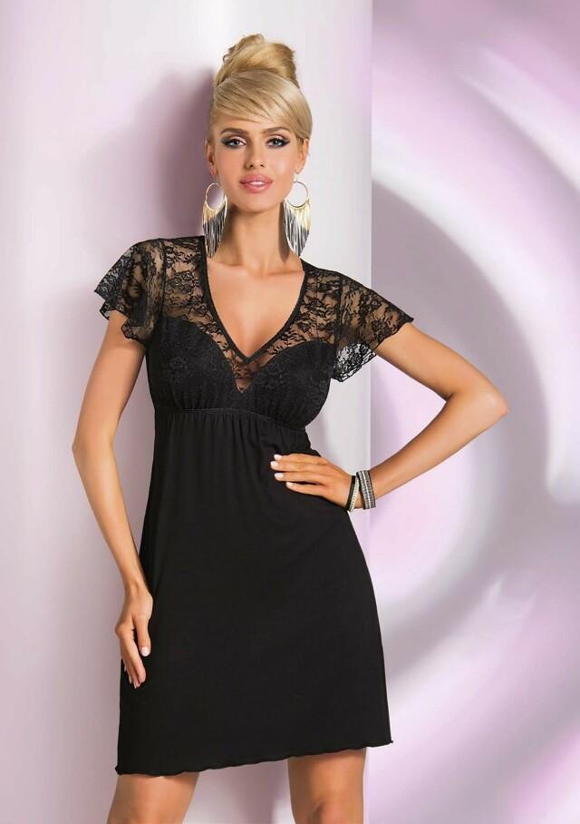 Noční košilka Donna Linda - XL - černá