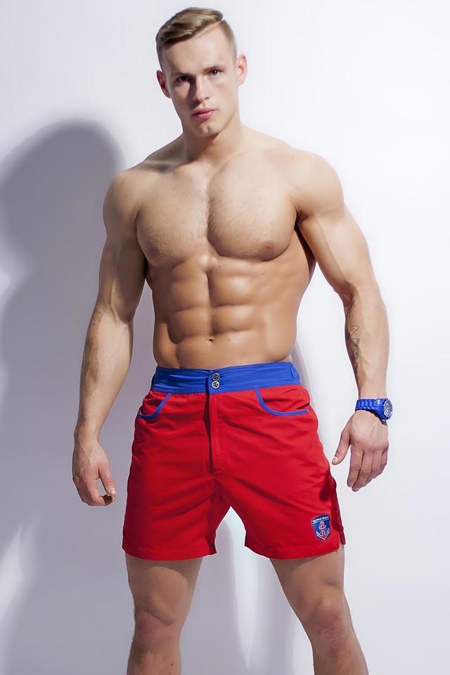 Pánské šortky Alpha Male Surfo red