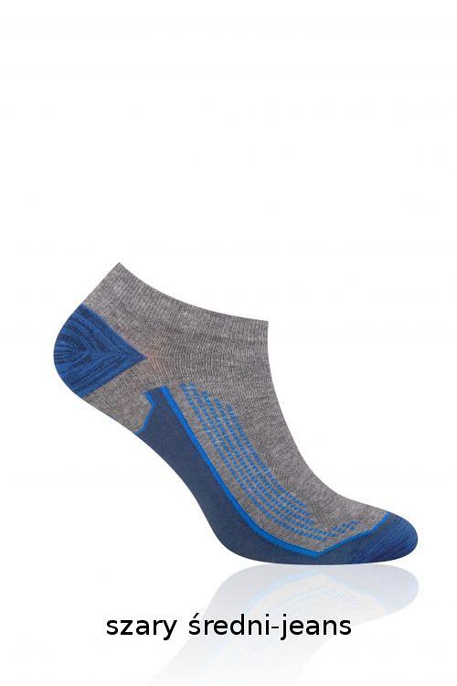 Sportovní bavlněné ponožky Steven Dynamic Sport art.101 - 44-46 - bílá-červená