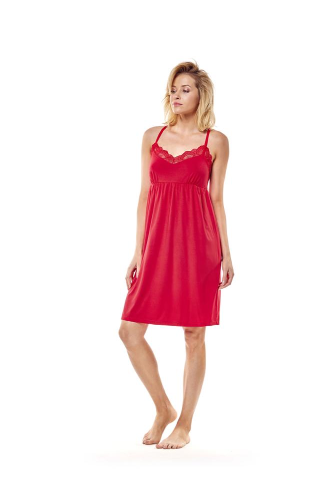 Noční košilka 36159 Maggie - červená - M