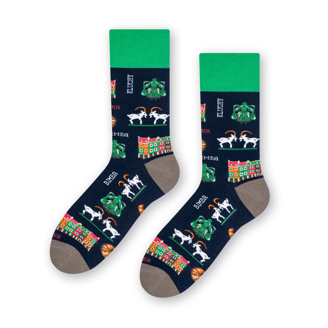 Pánské ponožky FOLK 118 - Ecru - 39-42