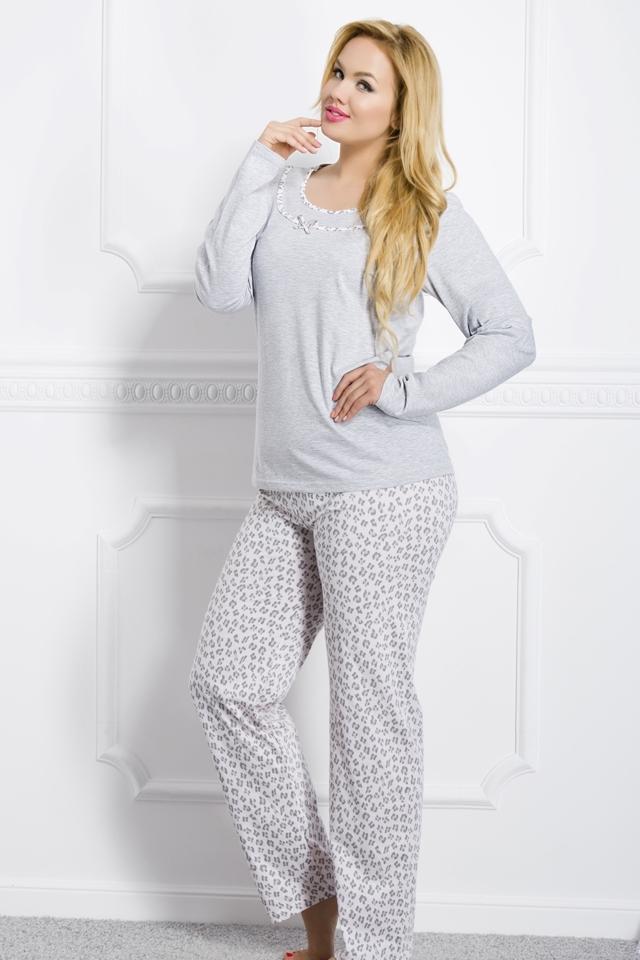 Dámské pyžamo 1042 Ismena grey - XXL - šedá