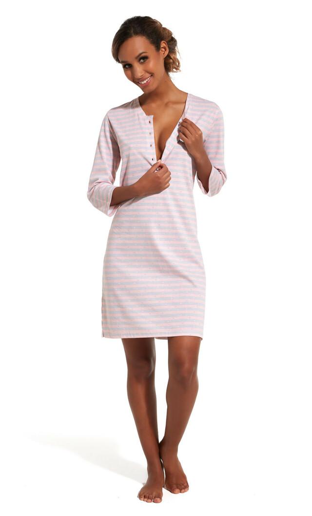 Noční košile Cornette 651/152 Grace 3/4 - XXL - růžová
