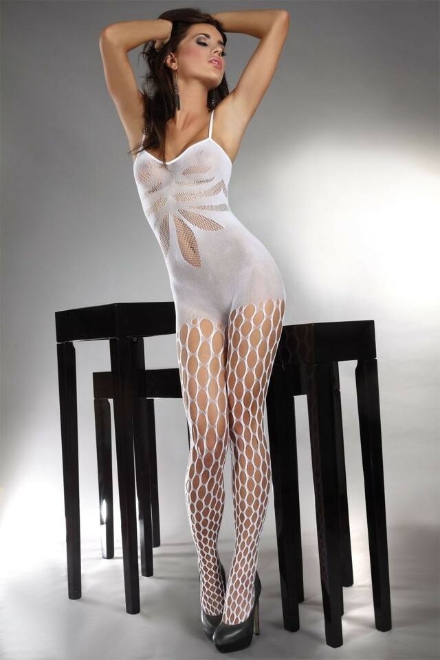 Bodystocking Artemida white - S/L - bílá