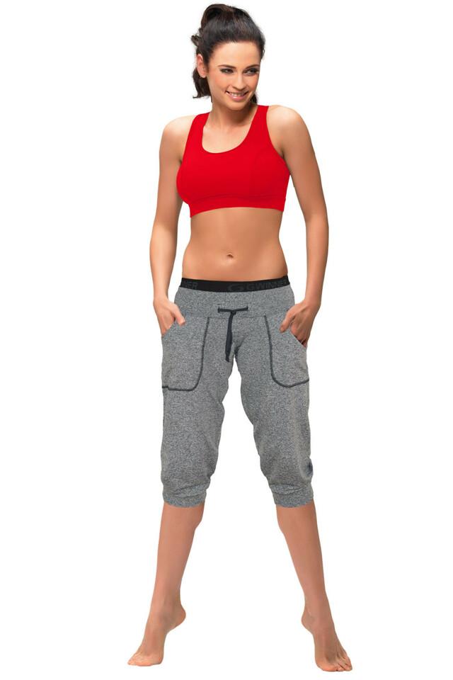 Sportovní kalhoty gWINNER Loose sport capri - S - melange