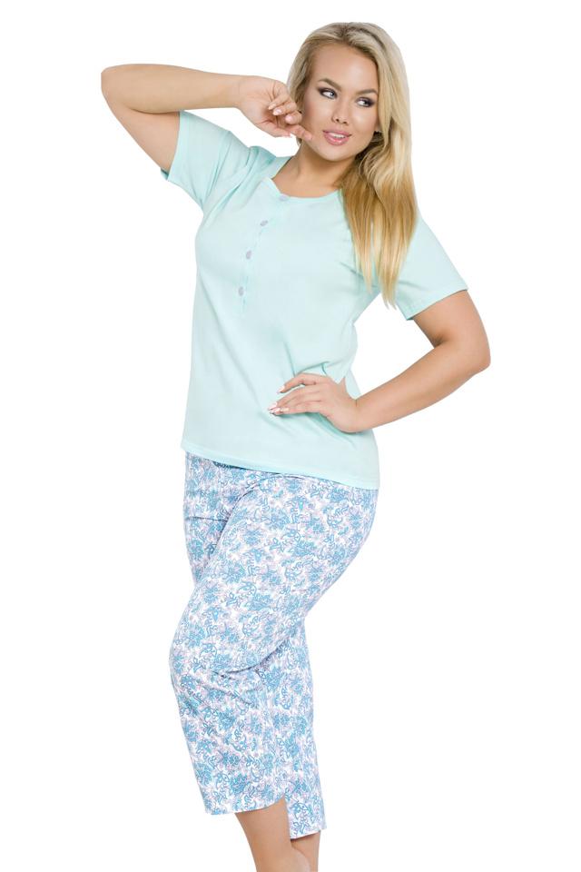 Dámské pyžamo Tereza modré nadměrná velikost - XXL