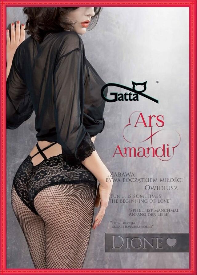 Punčochové kalhoty Gatta Ars Amandi Dione 01 - 1/2-XS/S - černá