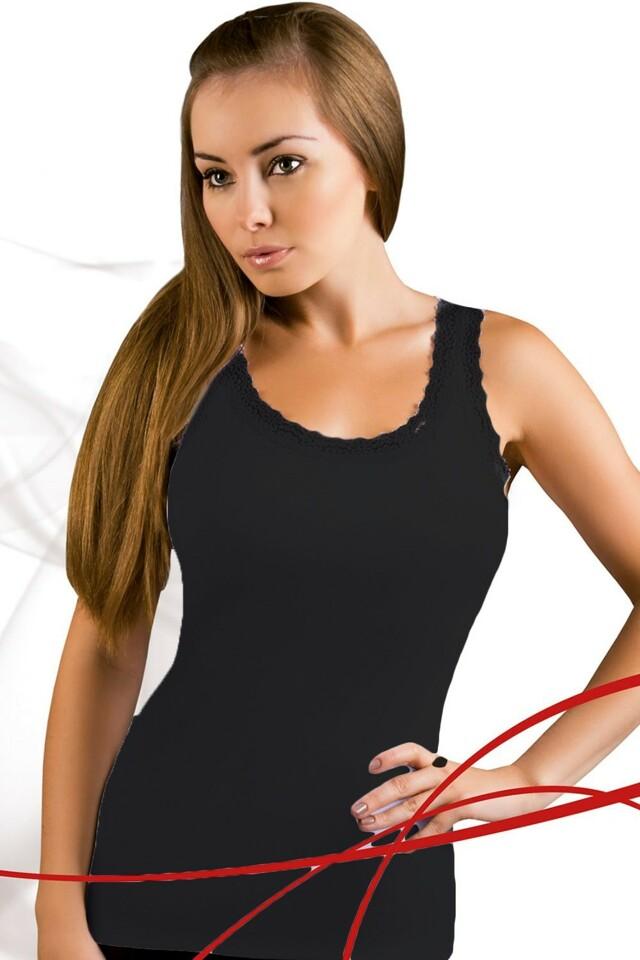 Dámská košilka Lea black - XL - černá