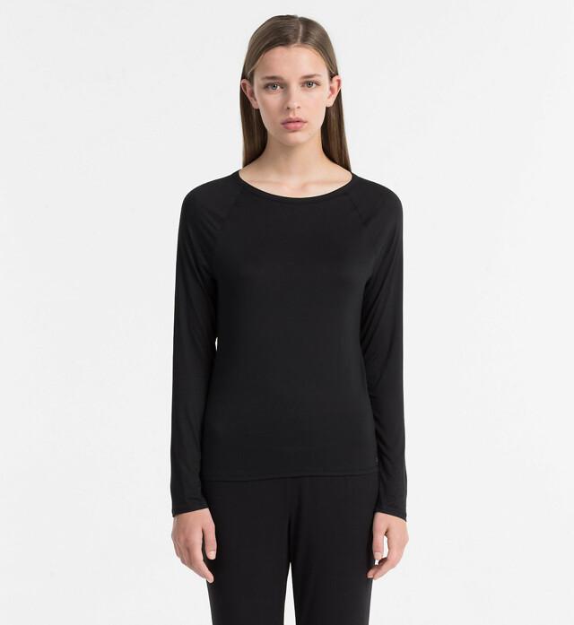 Dámské tričko Cotton Luxe QS5493E černá T|O Calvin Klein - L - černá