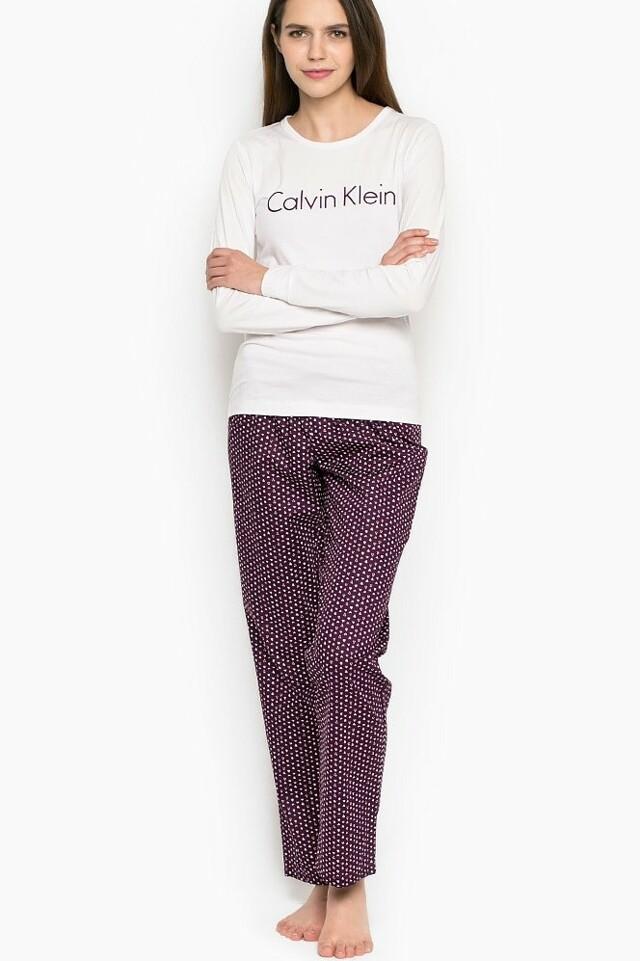 Dámské pyžamo QS5361E - Calvin Klein - L - fialová