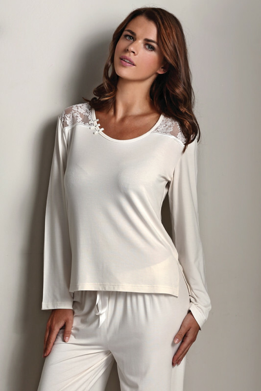 Dámské pyžamo LMS-2025 Paola - Luisa Moretti - XL - stříbrná