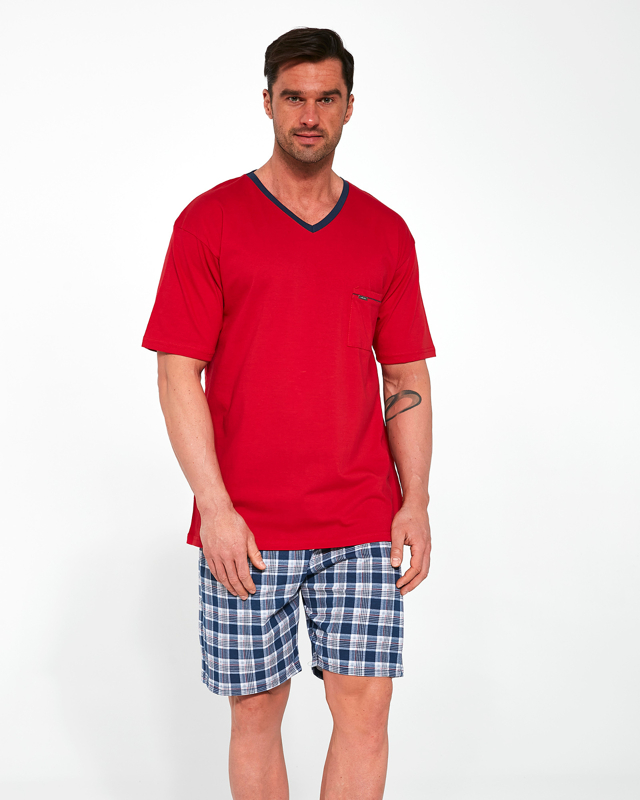 Pánské pyžamo Cornette 329/114 Tom kr/r M-2XL - XXL - Červené