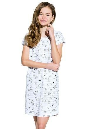 Dívčí noční košile Inka šedá - 146