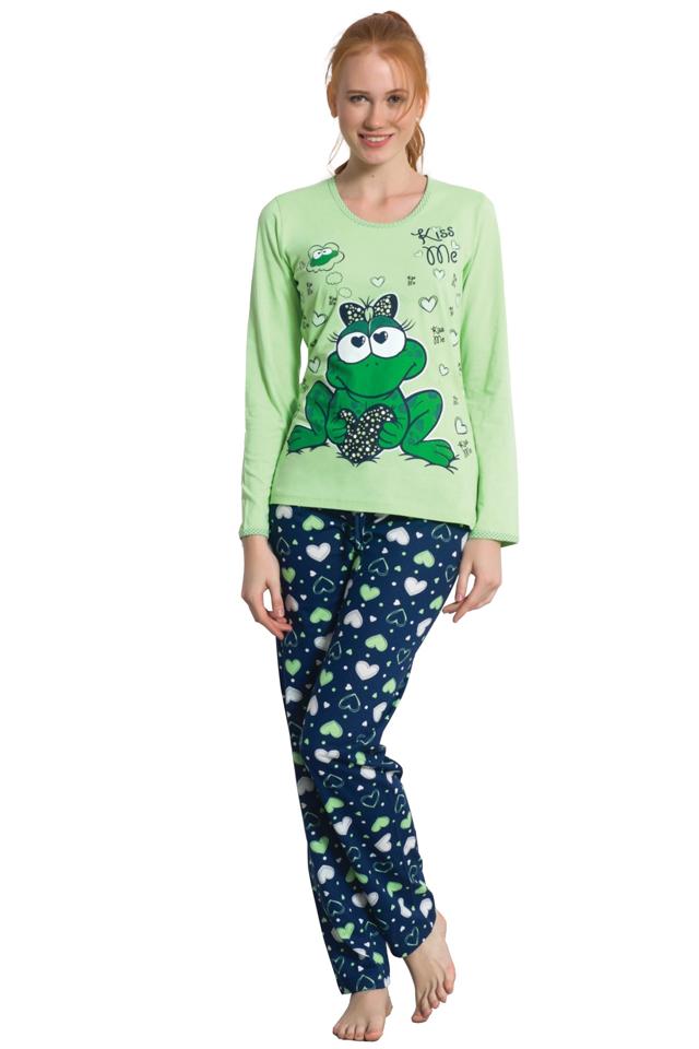 Bavlněné pyžamo Žabka - M