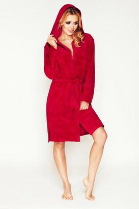 Župan s kapucí Diana-DKaren - XL - červená