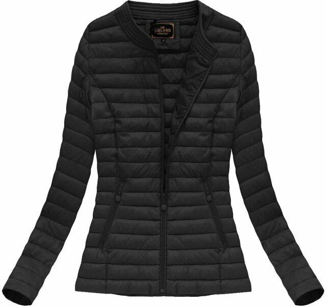 Černá prošívaná bunda (7143BIG) - 48 - černá